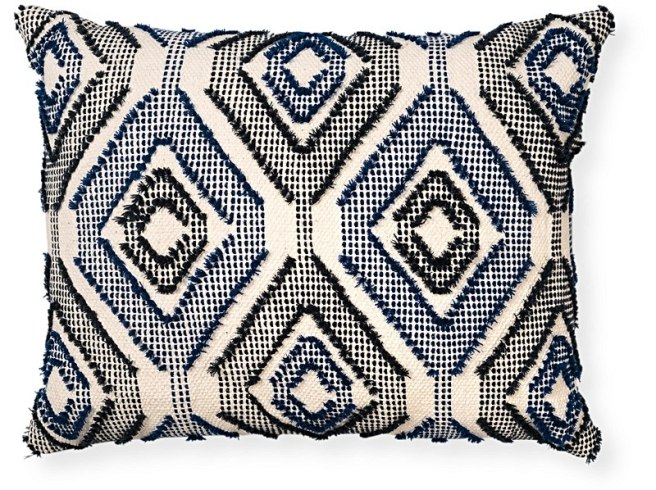 b1062236_oliver-bonas_homeware_navy-woven-diamond-cushion_1